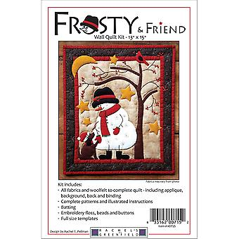 Frosty & Friend Wall Quilt Kit-13