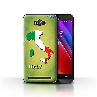 STUFF4 Case/Cover for Asus Zenfone Max ZC550KL/Italy/Italian/Flag Nations
