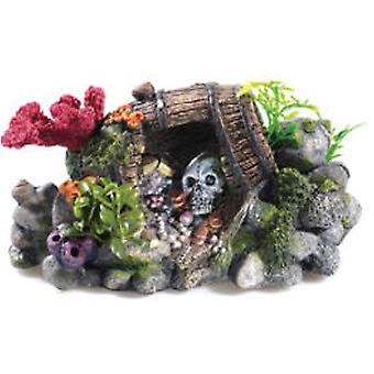 Classic For Pets Treasure Barrel & Skull (Fish , Decoration , Ornaments)