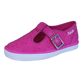 Keds T Strappy Girls Trainers / Shoes - Pink
