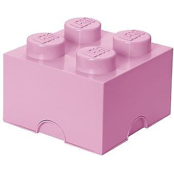 Lego Aufbewahrungsbox DESIGN: Ziegel 4 rosa hellrosa