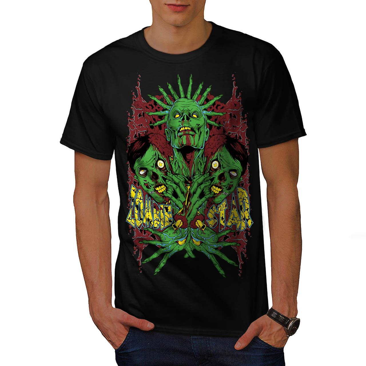 Monster Zombie Star Nightmare Men Black T-shirt | Wellcoda