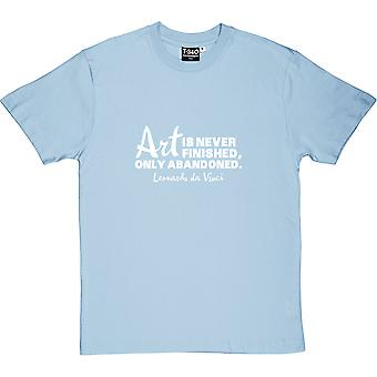 Art Is Never Finished Men's T-Shirt