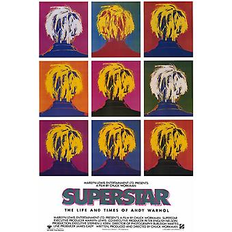 Superster de Life and Times of Andy Warhol Movie Poster Print (27 x 40)