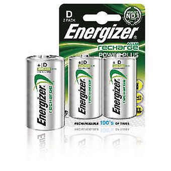 Energizer HR20 NiMH batteries (2 pcs) (D) 2500mAh Power Plus NH50