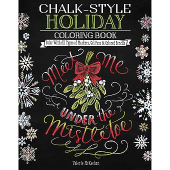 Design Originals-Chalk-Style Holiday Coloring Book DO-5699