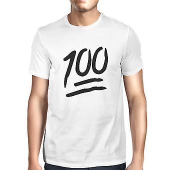 100 poeng t-skjorte tilbake til skolen Tee Mens søte kort ermet skjorte