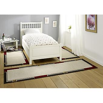 Design bed surround Alana | Short-pile carpet, beige/grey/red