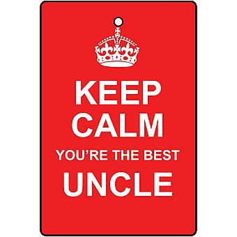 Keep Calm You're The Best Uncle Car Air Freshener