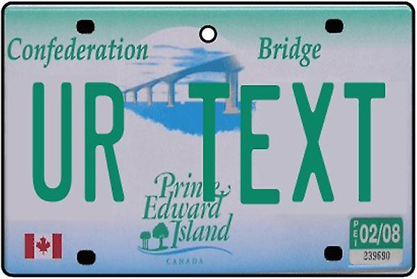 Personalized Prince Edward Island Numberplate Car Air Freshener