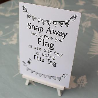 WHITE 'This Tag' Sign MR&MRS Design r