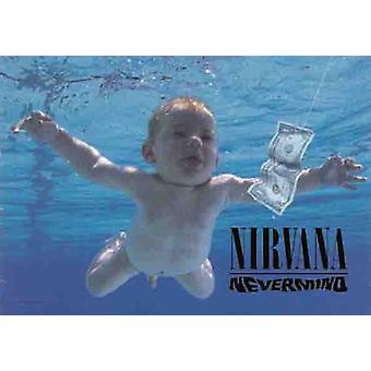Nirvana Nevermind store stoff plakat / flagg 1100 x 750 mm (hr)