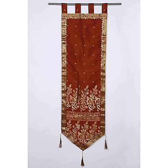 Brown - pared hecha a mano colgando de la pared decoración tapicería con borlas
