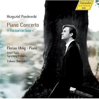 K. Penderecki - Krzysztof Penderecki: Klaver Concerto opstandelse [CD] USA import