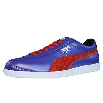 Puma Flipper Glitter Womens Leather Trainers / Shoes - Violet