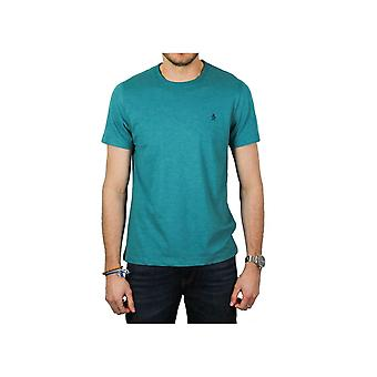 Original Penguin Peached Jersey Embroidery T-Shirt (Deep Lake Heather)