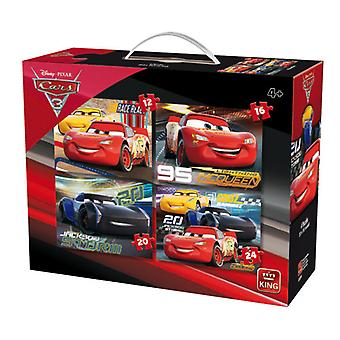 King Cars 3 puzzel 4 in 1 05504