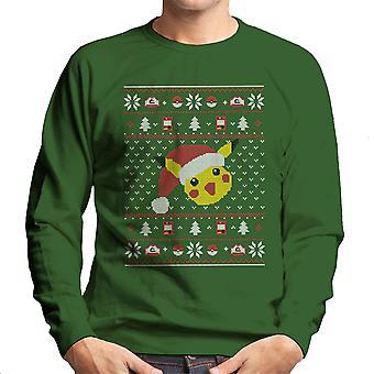 Christmas Pikachu Strik mønster Pokemon mænds Sweatshirt