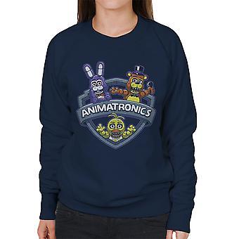 Animatronics galninge én nat på Freddys kvinders Sweatshirt