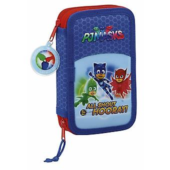 Safta Plumier Doble Pequeño 28 Piezas Pjmasks (Toys , School Zone , Pencil Case)