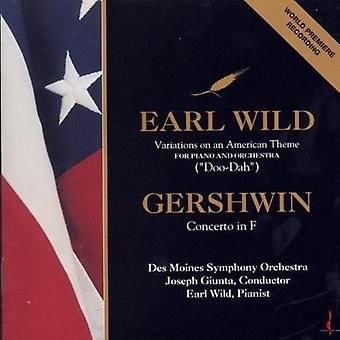 Wild/Gershwin - Earl Wild: Variations on an American Theme; Gershwin: Concerto in F [CD] USA import