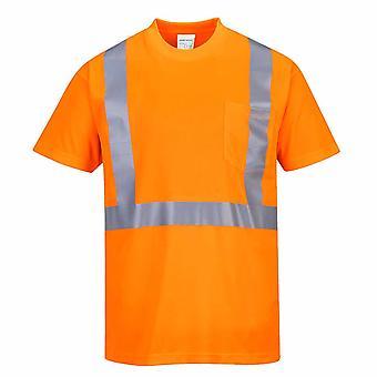 Portwest - Hi-Vis Safety T-Shirt With Pocket