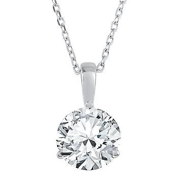 1 1/2 ct ソリティア ラボ成長ダイヤモンド ペンダント 14 K とプラチナで利用できます。