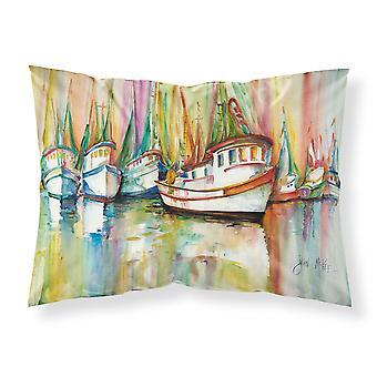 Carolines Treasures  JMK1074PILLOWCASE Shrimp Fleet Fabric Standard Pillowcase