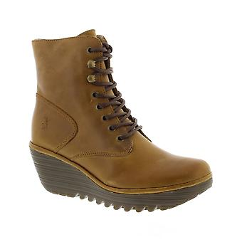 Fly London Ygot Warm - Camel Rug (Brown) Womens Boots