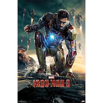 Iron Man 3 Robert Downey Jr Poster Poster Print