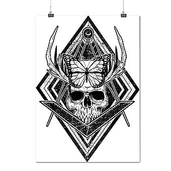 Matte or Glossy Poster with Evil Dead Skull Head Face | Wellcoda | *d2014