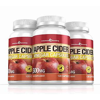 Apple Cider Vinegar 500mg Capsules - 360 Capsules - Fat Burner - Evolution Slimming