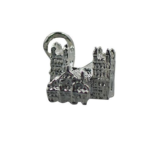 Silver 12x17mm York Minster Pendant or Charm
