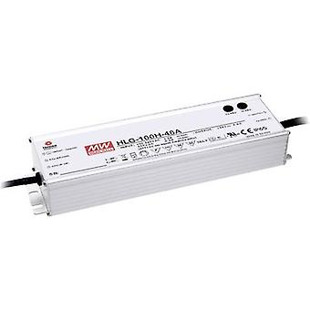 Mean Well HLG-100H-24A LED driver, LED transformer Constant voltage, Constant current 96 W 4 A 12 - 24 Vdc dimmable, PFC