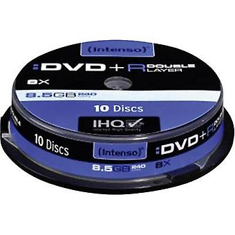 Blank DVD+R DL 8.5 GB Intenso 4311142 10 pc(s) Spi