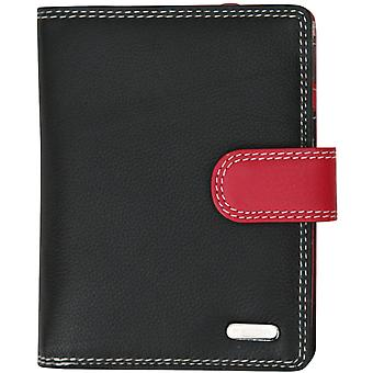 Felda RFID Genuine Leather Ladies Purse Wallet 9 Card Slots & Zipped Coin Section, Medium Size