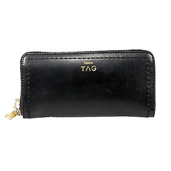 Pinko women's 1H203LY1NM2 black leather wallets