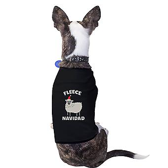 Fleece Navidad bomuld Pet skjorte sort X-Mas hund far gaver små hunde tøj