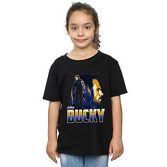 Maravilha meninas Vingadores infinito guerra Bucky personagem t-shirt