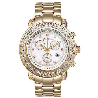 Joe Rodeo diamond men's watch - JUNIOR gold 4.75 ctw