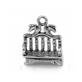 Packet 10 x Antique Silver Tibetan 16mm Bench Charm/Pendant ZX01225