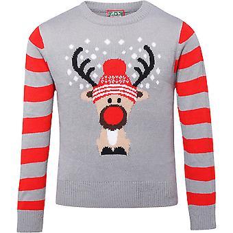 Christmas Boys & Girls Reindeer Festive Sweater Jumper