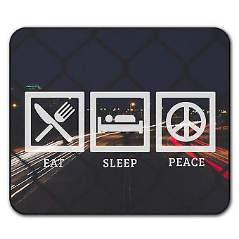 Eat Sleep Freedom  Non-Slip Mouse Mat Pad 24cm x 20cm | Wellcoda