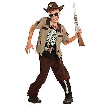 Costume de shérif de Zombie