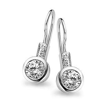 Orphelia Silver 925 Drop Earring Round White Zirconium  ZO-5038