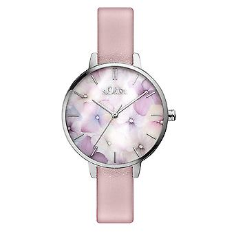 s.Oliver women's watch wristwatch leather SO-3521-LQ