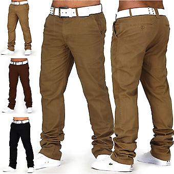 CHINO DS Style Jeans Regular Fit Chinos Trousers W29 - W38 Brown Beige