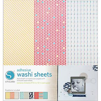 Silhouette Adhesive Back Washi Paper 12