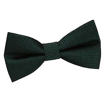 Mørk grønne greske nøkkel pre knyttet sløyfe