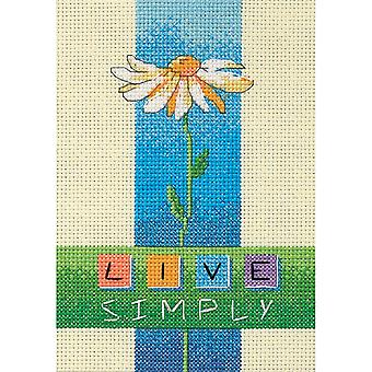 Live Simply Mini Counted Cross Stitch Kit-5